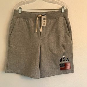 NWT Ralph Lauren gray sweat shorts Medium USA $90